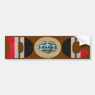 Iraq Ribbon Doc - CMB Car Bumper Sticker