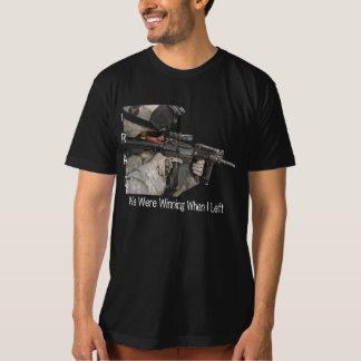 Iraq Soldier, We Were Winning When I Left T-Shirt