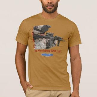 Iraq Soldier, We Were Winning When I Left - USA T-Shirt