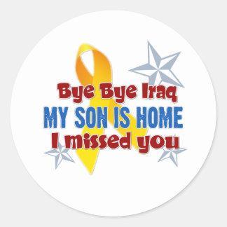 Iraq Son Classic Round Sticker