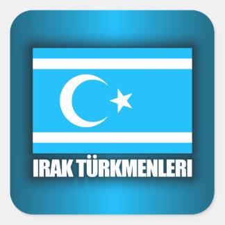 Iraq Turkmenleri Pegatina Cuadradas Personalizada