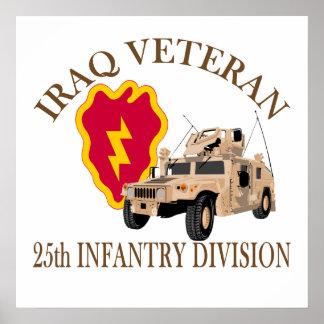 Iraq Vet 25th ID Humvee Poster