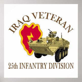 Iraq Vet 25th ID Stryker Poster