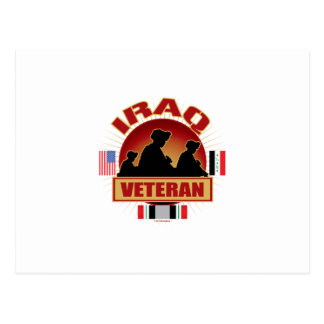 Iraq Vet Flags Postcard
