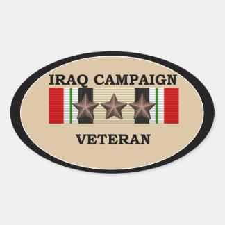 Iraq Veteran 3 ICS Oval Sticker