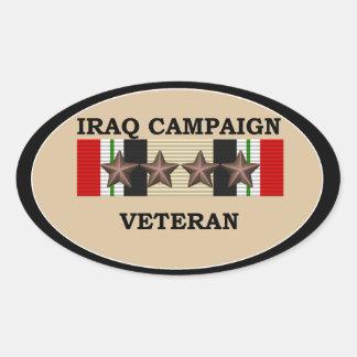 Iraq Veteran 4 ICS Oval Sticker