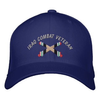 Iraq Veteran Artillery Crossed Cannon Hat Embroidered Hats