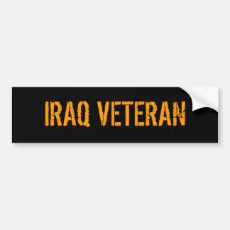 IRAQ VETERAN CAR BUMPER STICKER