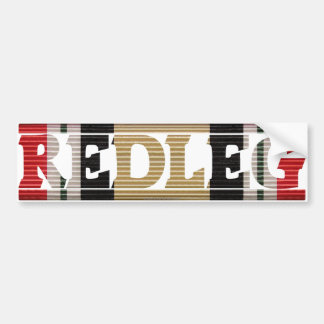 Iraq Veteran Redleg Bumper Sticker