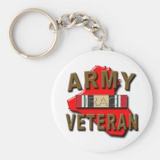 Iraq Veteran Service Ribbon, ARMY Keychain