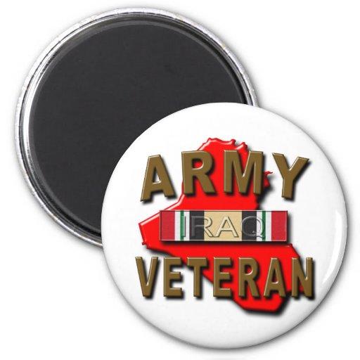 Iraq Veteran Service Ribbon, ARMY Fridge Magnets