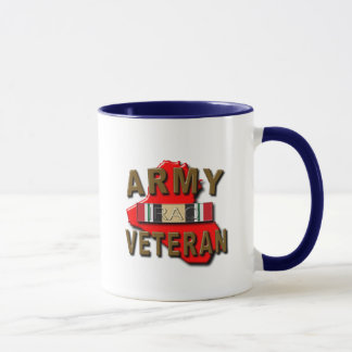 Iraq Veteran Service Ribbon, ARMY Mug