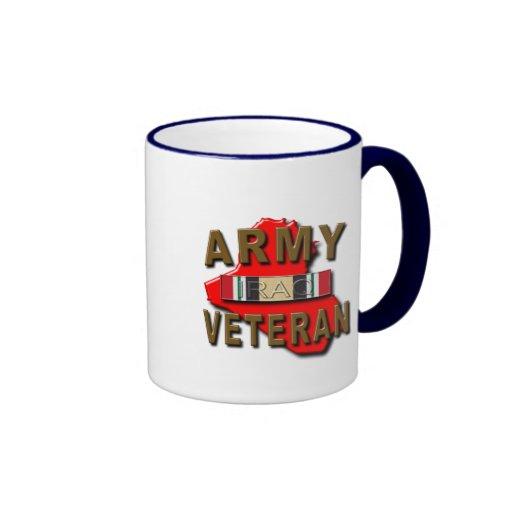 Iraq Veteran Service Ribbon, ARMY Ringer Coffee Mug