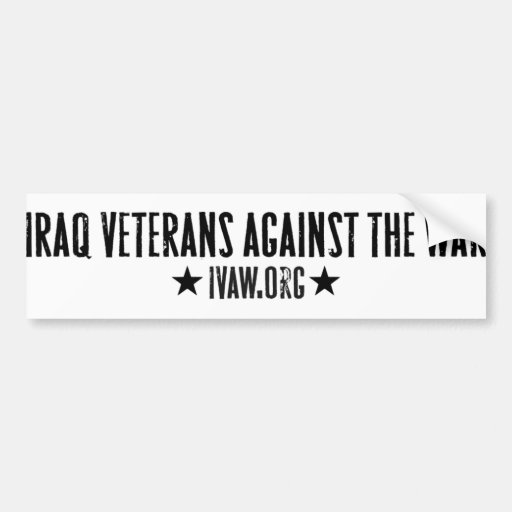 Iraq Veterans Against the War Bumper Sticker