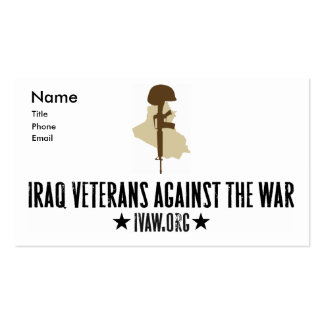 Iraq Veterans Against the War Business Cards