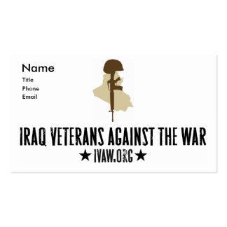Iraq Veterans Against the War Business Cards