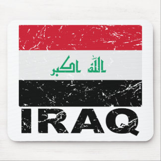 Iraq Vintage Flag Mouse Pad