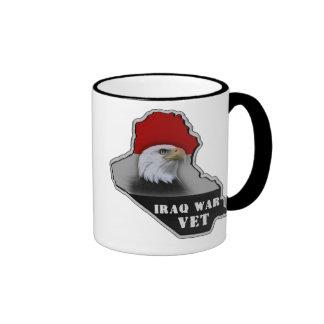 Iraq War Military Veteran Ringer Coffee Mug