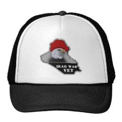 Iraq War Military Veteran Trucker Hat