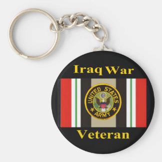 """Iraq War Veteran """"Army"""" Keychain"""