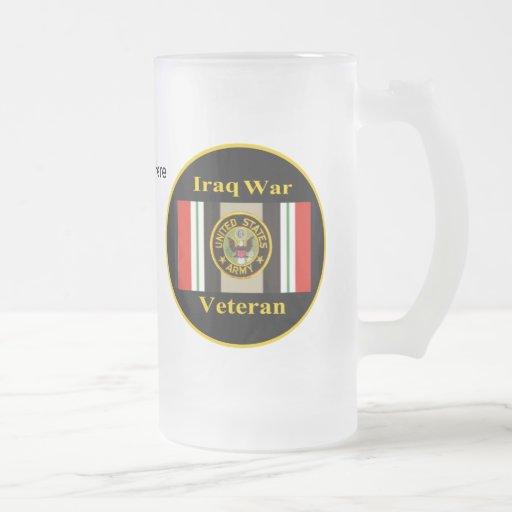 "Iraq War Veteran ""Army"" Stein Mugs"