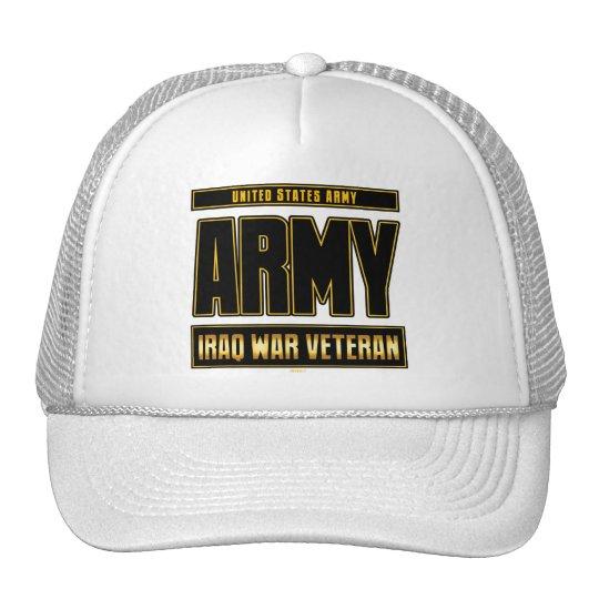 IRAQ WAR VETERAN - ARMY TRUCKER HAT