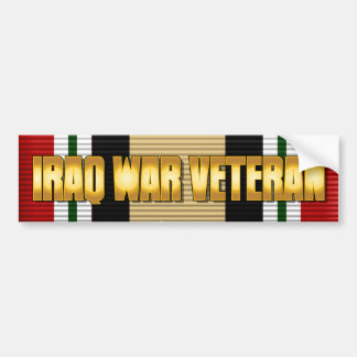 IRAQ WAR VETERAN CAR BUMPER STICKER
