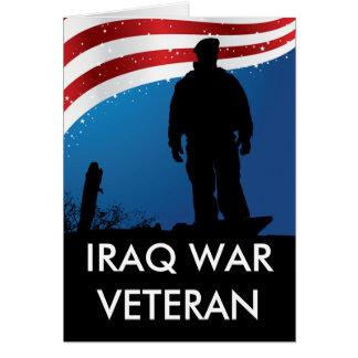 Iraq War Veteran Greeting Card