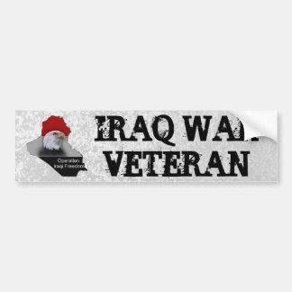 Iraq War Veteran Military Veteran Car Bumper Sticker