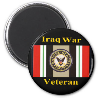 "Iraq War Veteran ""Navy"" Magnet"