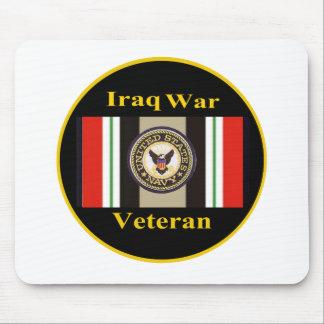 """Iraq War Veteran """"Navy"""" Mousepad"""