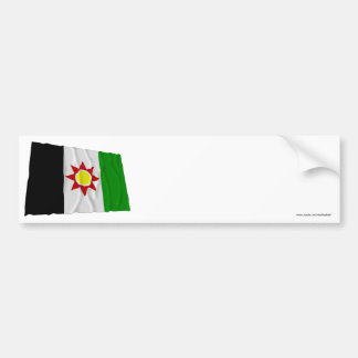 Iraq Waving Flag (1959-1963) Bumper Sticker