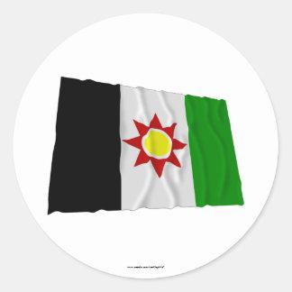 Iraq Waving Flag (1959-1963) Classic Round Sticker