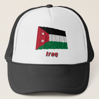 Iraq Waving Flag with Name (1924-1958) Trucker Hat