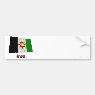 Iraq Waving Flag with Name (1959-1963) Bumper Sticker