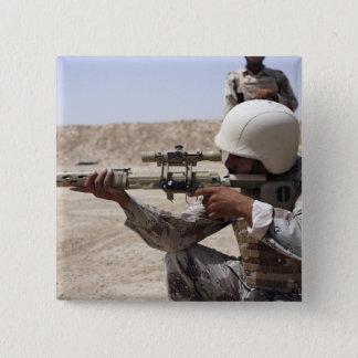 Iraqi Army Sergeant sights in down range 2 Pinback Button