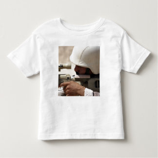 Iraqi Army Sergeant sights in down range Toddler T-shirt