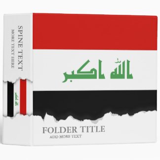 Iraqi Flag Binder