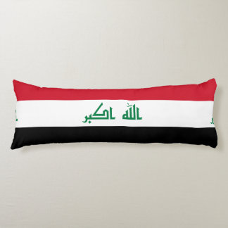 Iraqi flag body pillow