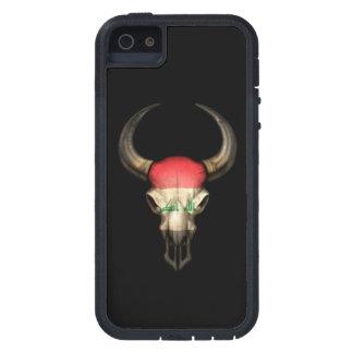 Iraqi Flag Bull Skull on Black Case For iPhone SE/5/5s
