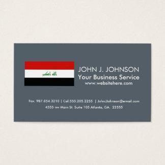 Iraqi Flag Business Card