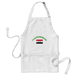 iraqi flag designs adult apron