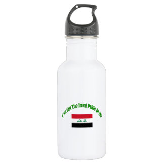 iraqi flag designs stainless steel water bottle