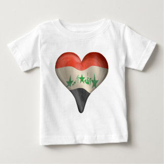 Iraqi Flag In A Heart Baby T-Shirt