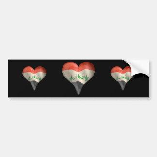 Iraqi Flag In A Heart Bumper Sticker