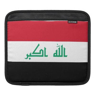 Iraqi Flag iPad Sleeve