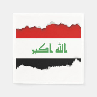 Iraqi Flag Paper Napkin