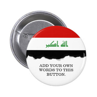 Iraqi Flag Pinback Button
