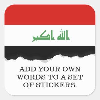 Iraqi Flag Square Sticker
