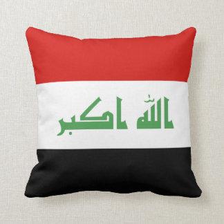 Iraqi Flag Throw Pillow